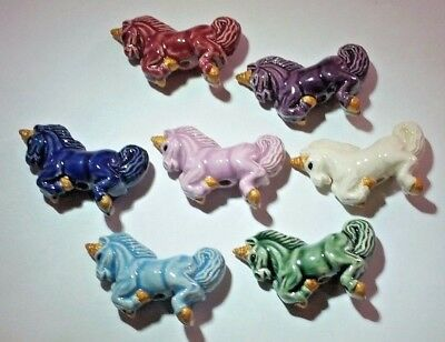 Peruvian Ceramic Unicorn Focal Bead Single OR Lot of 5 OR 10 37mm by 30mm