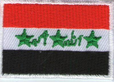 écusson ECUSSON PATCHE THERMOCOLLANT DRAPEAU IRAK IRAQ
