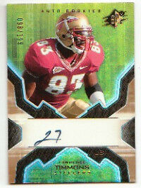 Lawrence Timmons Steelers Signed Spx 98/199 Rookie Fla