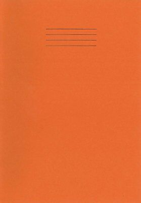A4 Rhino School Home Office College Student Orange Exercise Book Squared (5mm)