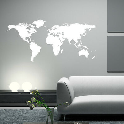 Map Of The World Vinyl Wall sticker decal quotes