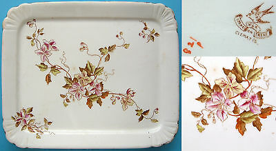 "W&R: 9¾""x8"" Pot Stand:Clematis:1890-94:(Carlton Ware)"