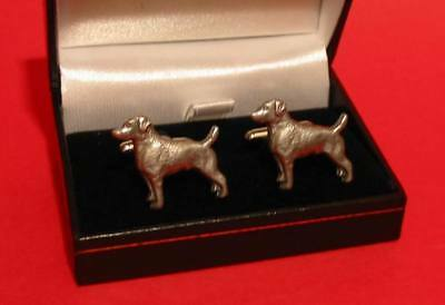 Jack Russell Terrier Dog Pewter Cufflinks Xmax Gift NEW