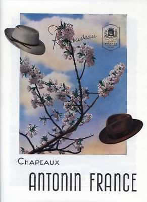 1948- Chapeaux ANTONIN Hats - French Ad
