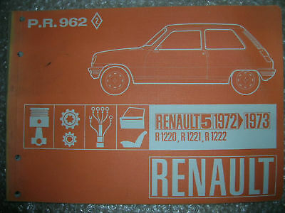 Renault 5 - R5 (1Er Modele) Catalogue Piece Rechange Pr 962 Origine D'epoque