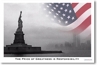 Price of Greatness - Statue Liberty Patriotic    POSTER