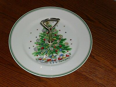 "10.5"" Salem CHRISTMAS EVE Cookie Serving PLATE w/handle"