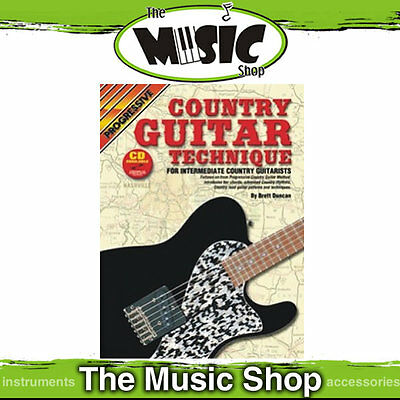 Progressive Country Guitar Technique Book with CD New
