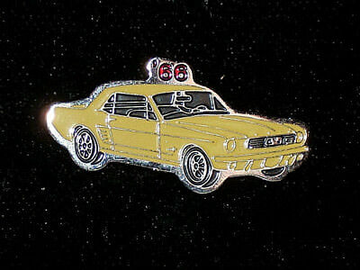 1966 MUSTANG COUPE - hat pin , lapel pin , tie tac , hatpin GIFT BOXED