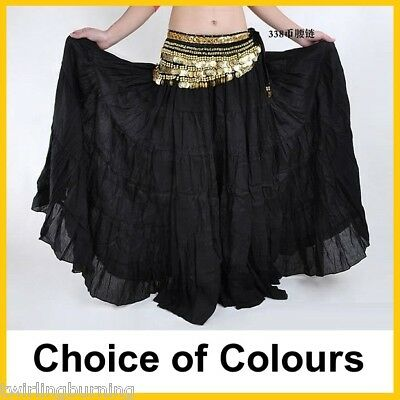 Belly Dance Tiered Skirt Full Circle Tribal Dancing AS07+AB02