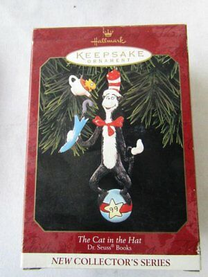 1999 Hallmark CAT IN THE HAT DR SEUSS BOOKS COLLECTOR ORNAMENT