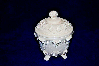 Jeannette Shell Pink Milk Glass Footed Candy Dish S2359