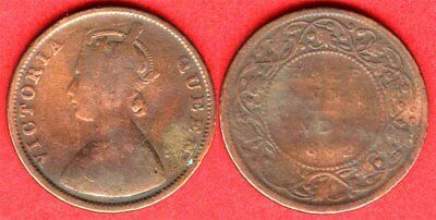 British India1862 Copper  Victoria Half Anna VF rare