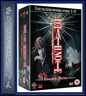 Death Note - The Complete Series - Episodes 1 - 37 **brand New 9 Dvd Box Set****