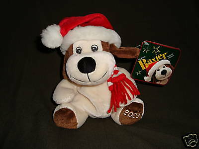Christmas Plush Dog Baxter Sears Exclusive W/Tags
