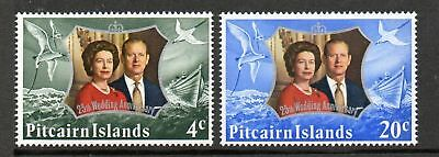 Pitcairn Islands 1972 Silver wedding MNH set stamps