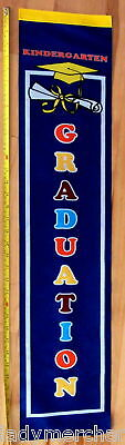 """KINDERGARTEN GRADUATION""  3' Banner, New! Bright! Free Shipping/Great Buy!"
