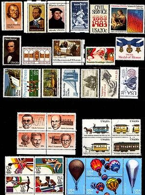 1983 US Commemorative Stamp Year Set Mint MNH