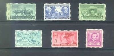 US 1949 Commemorative Year Set with 6 Stamps MNH