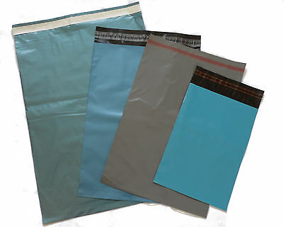 50 Mixed Blue Grey Strong Plastic Postal Mailing Bags