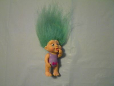 "APPLAUSE 3"" MAGIC TROLL BABY DOLL 1991 WITH GREEN HAIR"