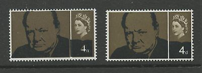 GB ERROR 1965 CHURCHILL 4d...BLACK SHIFT BROWN VALUE
