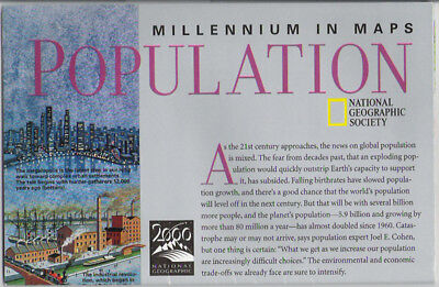National Geographic Map Millennium Population 10/1998