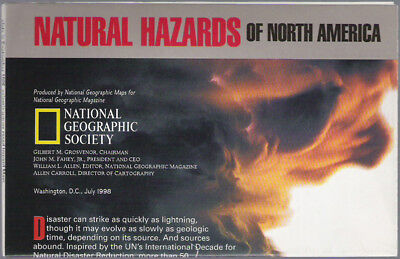 National Geographic Map Natural Hazards 07/1998