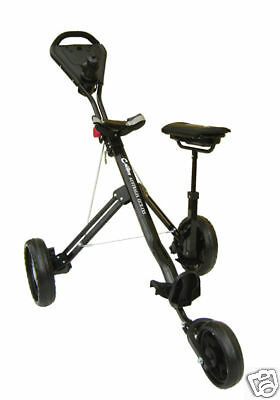 Golf Buggy, Trolley, Suspension 3rd Wheel, Brake, Compartment Seat, Water Bottle