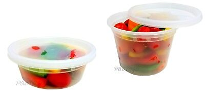 8 16 oz. Heavy DELItainer Food Freezer Storage Soup Container 48 Ea. - BPA Free!