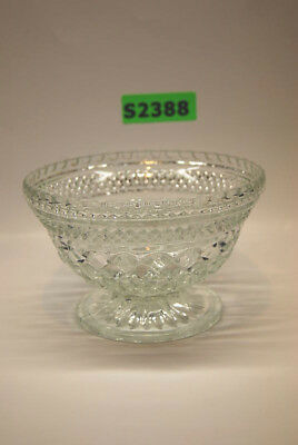 Beautiful Clear Glass Footed Bowl Excellent Condition (#S2388)