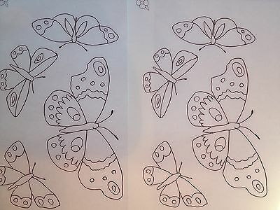 Webster Butterflies iron on Embroidery transfer 3 x A4 sheets