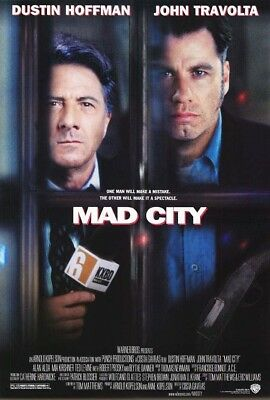MAD CITY MOVIE POSTER 2 Sided ORIGINAL ROLLED 27x40