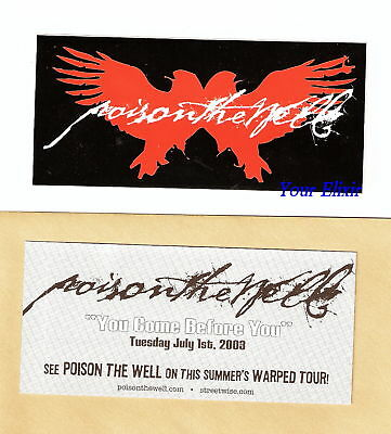 POISON THE WELL You Come Before You Board Wings Sticker