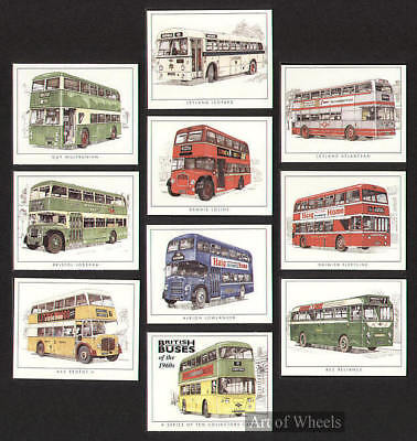Buses 1960s AEC Bristol Albion Leyland Guy Trade Cards