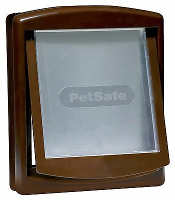 New Petsafe Staywell 755 Brown Woodgrain 2 Way Medium Pet Dog Door Flap Locking