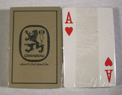Vintage 1970's Lowenbrau Beer Gold Playing Cards Deck