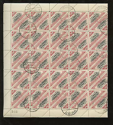 MOZAMBIQUE COMP.1935 AIR TRIANGLE 80c SHEET 100 stamps