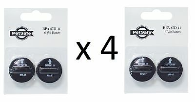 4 x RFA-67 GENUINE PETSAFE BATTERIES - BATTERY FOR ANTI BARK AND FENCE COLLARS