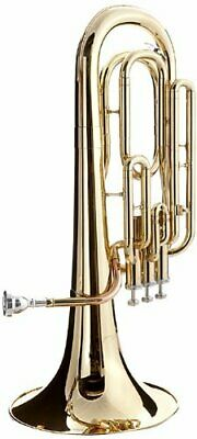 Hawk Lacquer Brass Bb Baritone Horn with Case and Mouthpiece