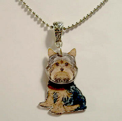 Yorkshire Terrier 3D Necklace Handcrafted Plastic Made in USA