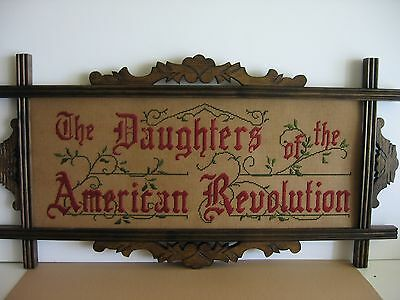 Daughters of the American Revolution motto sampler, ANTIQUE STYLE, kit to stitch