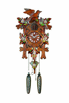 Classical quartz cuckoo clock with light sensor- Hand painted - made in Germany
