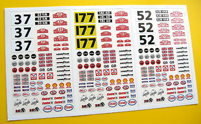 SLOT CAR SCALEXTRIC 1/32nd Monte Carlo Minis stickers