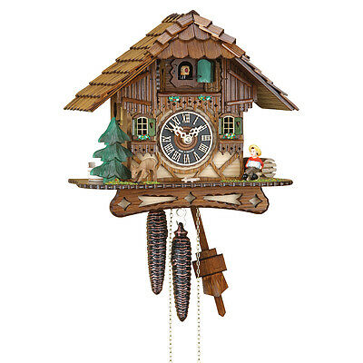 Cuckoo Clock Black Forest House 1 day movement NEW