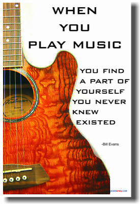 When you play music - Music Acoustic GUITAR NEW POSTER