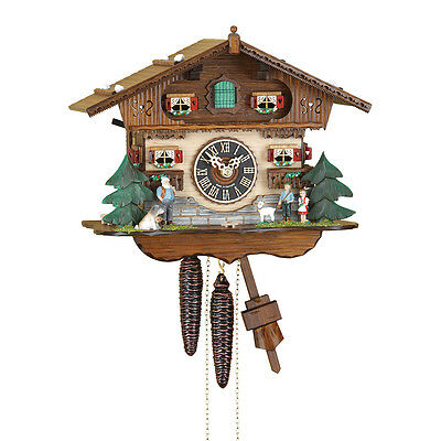 "Mechanical cuckoo clock ""Heidi house"" 1 day- Made in the Black Forest Germany"