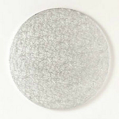 """14"""" inch ROUND silver cake drum (board) 12mm thick"""