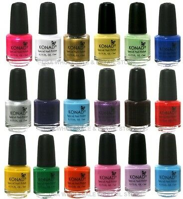 PICK ANY 20 SMALL KONAD 5ml STAMPING NAIL DESIGN POLISH