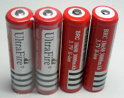 4Pile ACCU BATTERY ULTRAFIRE 18650 3V 3000mAh PROTECTED